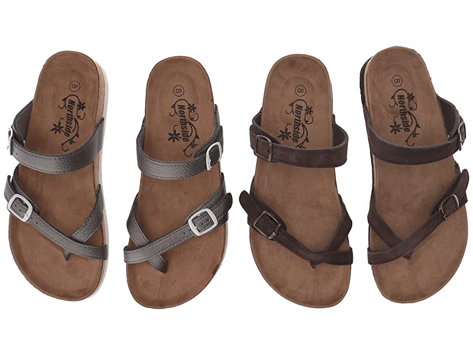 Northside Anya 2-Pair Pack (Pewter/Brown) Women