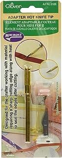 Clover Mini Iron II El Adaptador de Pulgada Tip-Hot Cuchillo, Acero, Plateado y Dorado, 1