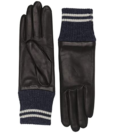 rag & bone Ski Gloves (Black/Navy) Extreme Cold Weather Gloves