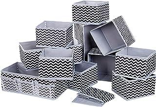 DIMJ Lot de 12 Boites de Rangement de Non-tissé, Rangement Tiroir Pliable et Respirant, Organisateur Tiroir Ideal pour Sou...