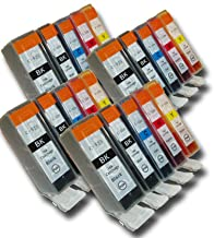 The Ink Squid 20 Chipped Compatible High-Capacity Canon PGI-525 & CLI-526 Ink Cartridges for Canon Pixma Printers
