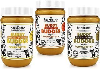BUDDY BUDDER Bark Bistro Company, Barkin` Banana + Pumpkin Pup + Ruff Ruff Raw, Dog Peanut Butter, Healthy Dog Treat - Mad...