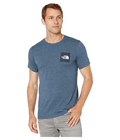 The North Face Short Sleeve Boxed Out Tri-Blend T-Shirt (Blue Wing/Teal Heather/Blue Wing/Teal) Men