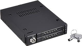 Cremax 2x 2.5インチ SATA 3 HDD/SSD搭載用モバイルラック 3.5インチベイサイズ対応メタル黒モデル CS5023 MB992SK-B