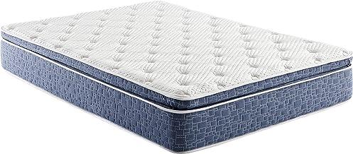 10 Inch Pillow Top Hybrid Mattress, Gel Memory Foam and Innersping Support, Plush Feel, Full