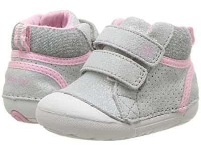 Stride Rite SM Milo (Infant/Toddler) (Silver Leather) Girls Shoes