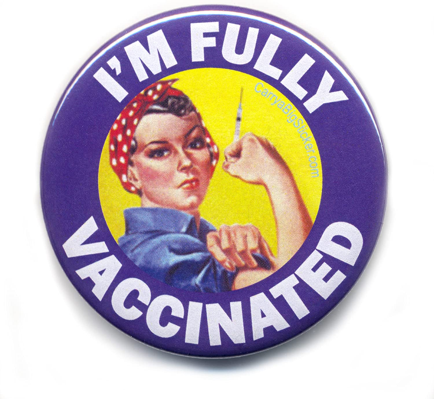 I'm Fully Vaccinated Button online shopping Rosie the 2.25-inch Riveter Choice Diameter