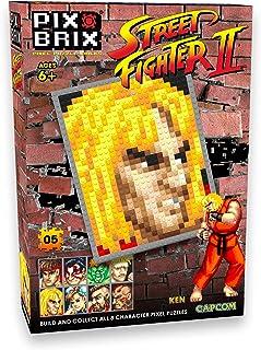 Pix Brix Street Fighter II Pixel Puzzle Bricks, Ken – Build Your Favorite Street Fighter – Includes 768 Pieces Plus Color ...