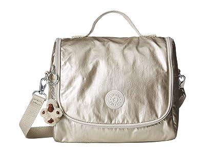 Kipling Kichirou Lunch Bag (Cloud Grey Metallic) Cross Body Handbags
