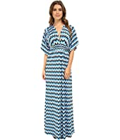 Tbags Los Angeles - Dolman Sleeve Rouched Waist Maxi