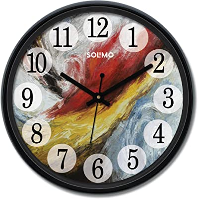 Amazon Brand - Solimo 12-inch Wall Clock - Mural (Silent Movement)