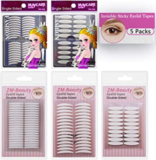 5 Packs Natural Invisible Single/Double Side Eyelid Tapes Stickers, Medical-use Fiber..