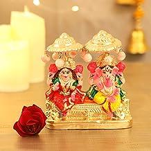 TIED RIBBONS Laxmi Ganeshs Idol for Home Decor Mandir Table Desktop Table Decoration - Lakshmi Ganesh Idol