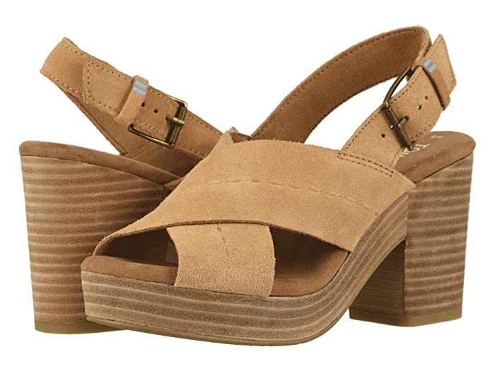 Vintage Sandals | Wedges, Espadrilles – 30s, 40s, 50s, 60s, 70s TOMS Ibiza Honey Suede Womens Sandals $76.97 AT vintagedancer.com