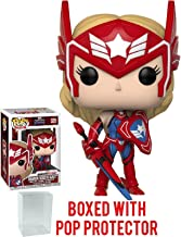 Funko Pop! Games: Marvel Future Fight - Sharon Rogers as Captain America Vinyl Figure (Bundled with Pop Box Protector Case)