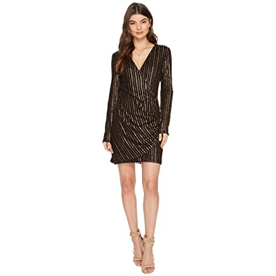The Jetset Diaries Chryseis Mini Dress (Black/Bronze Sequin) Women