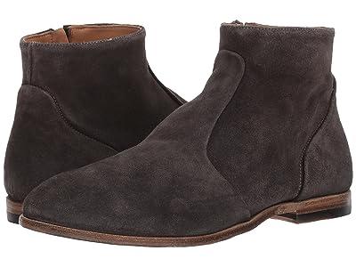 eleventy Suede Side Zip Boot (Taupe) Men