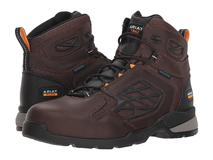 Ariat  Rebar Flex 6 Waterproof Composite Toe (Dark Brown) Mens Lace-up Boots
