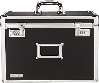 Vaultz Locking Personal File Organizer Tote Box, Legal Size, Black (VZ01189)