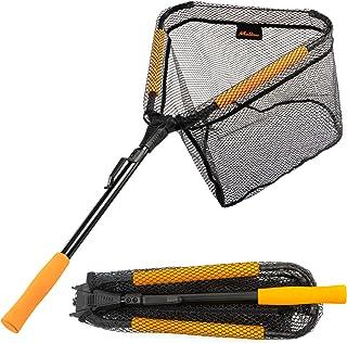 MoiShow Floating Fishing Net - Fishing Landing Net Foldable Fishing Net for Freshwater or Saltwater - Telescopic Folding F...