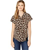 Animal Print Cap Sleeve Tunic