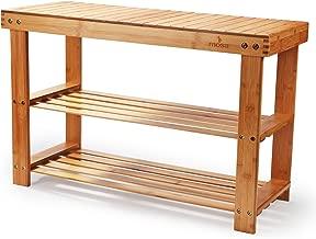 Mosa Natural Bamboo Entryway Bench (27.6