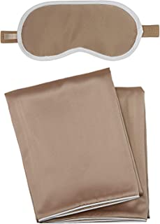 iluminage. Sleeping Beauty Deluxe Set with 2 Pillowcases for Wrinkles/Fine Lines & 1 Eye Mask with Anti-Aging Copper Technology