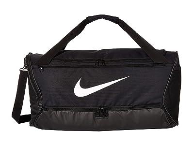 Nike Brasilia Medium Duffel 9.0 (Black/Black/White) Bags