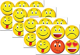 4 packs of Emoticon sticky note 6 pack set Emoji Smiley Emoticon Yellow Round sticky notes