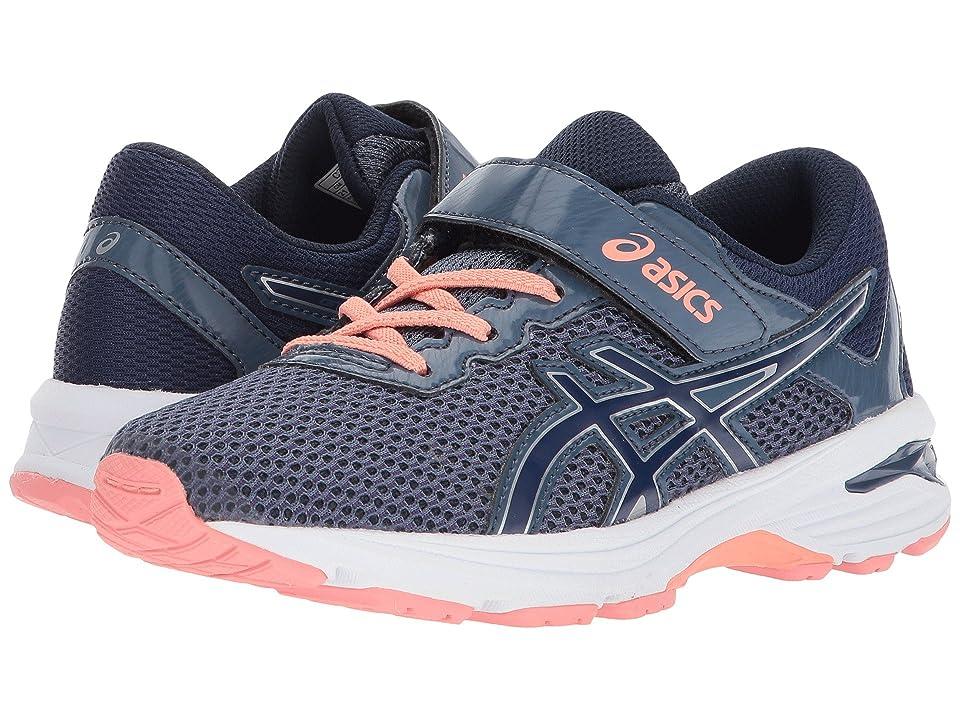 ASICS Kids GT-1000 6 PS (Toddler/Little Kid) (Smoke Blue/Indigo Blue/Begonia Pink) Girls Shoes