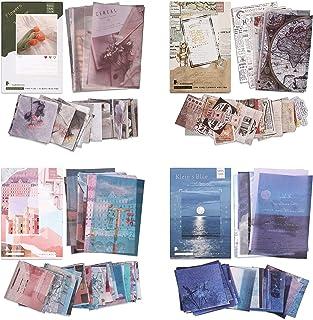 Kit 220 Feuilles Autocollants Papier Washi Autocollants Journal de Fleurs Beaux Paysages Autocollants Adhésifs Décoratifs ...