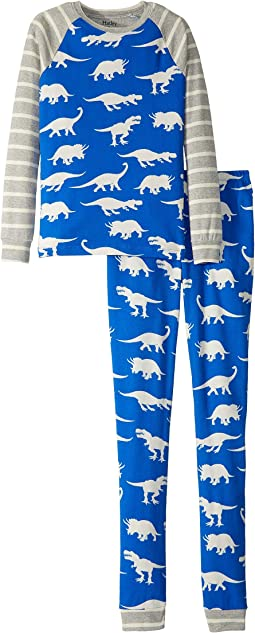 Roaming Dinos Organic Cotton Pajama Set (Toddler/Little Kids/Big Kids)