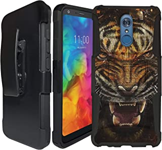 CasesonDeck Case for LG Stylo 3 / Stylo 3 Plus/LG Stylus 3 - Heavy Duty Rugged Holster Case with Built in Kickstand (Fierce Tiger)