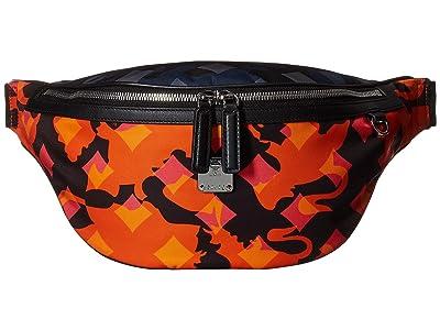 MCM Dieter Munich Lion Camo Nylon Belt Bag Medium (Multi) Handbags