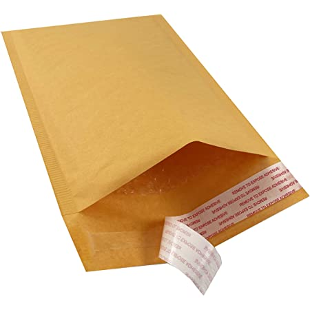 """75 #0 6/""""x10/"""" KRAFT BUBBLE MAILERS SHIPPING MAILING PADDED BAGS ENVELOPES 6/""""x9/"""""""