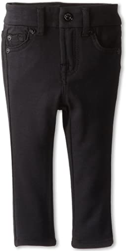 7 For All Mankind Kids Skinny Jean in Black Ponte Knit (Infant)