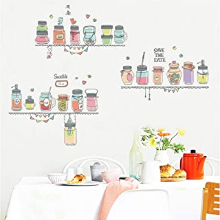 Amazon Brand - Solimo Wall Sticker for Home (Kitchen Shelf Decor ), Ideal Size on Wall: 160 x 110 cm