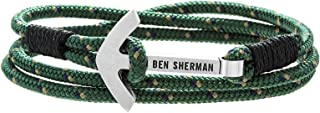 Men's Green and Yellow Anchor Closure Wrap Bracelet