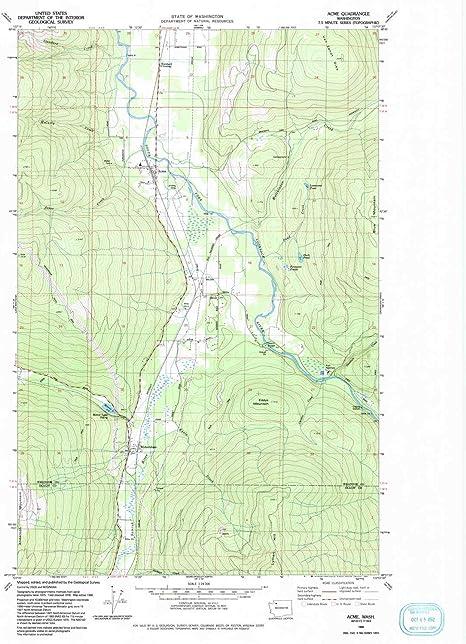 1992 7.5 X 7.5 Minute Historical YellowMaps Chewelah WA topo map 1:24000 Scale 27.2 x 22.2 in Updated 1996