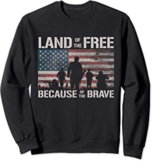 Land Of The Free Because Of The Brave American Flag Sweatshirt