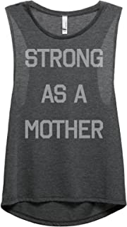 Thread Tank Strong As A Mother Women's Fashion Sleeveless Muscle Tank Top Tee