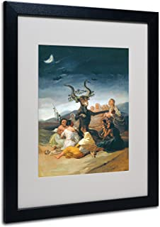 The Witches' Sabbath by Francisco Goya with Black Frame Artwork, 16 by 20-Inch