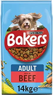 Bakers Adult Dry Dog Food Beef and Veg 14 kg