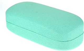 Womens Canvas Pastel Color Oversize Rectangular Clam Shell Sunglasses Cases