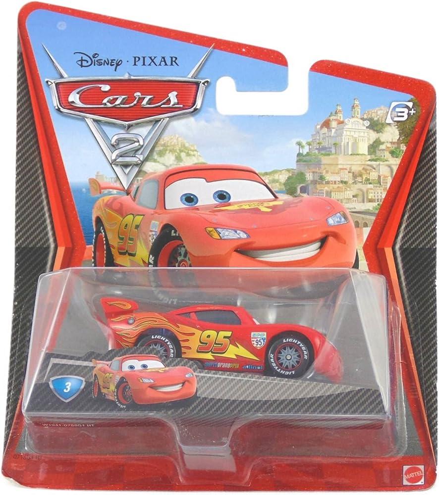 Mattel ,disney cars saetta mcqueen con ruote da corsa W1941