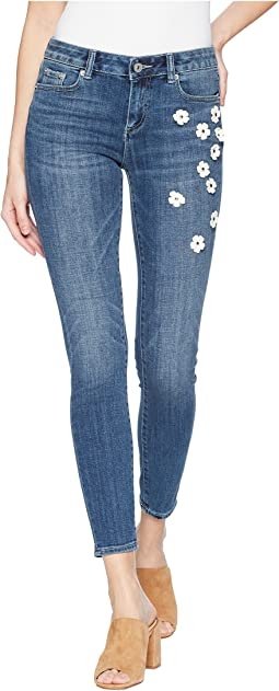 Floral Embellished Classic Skinny Jeans