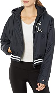 Champion Life Womens JL4397550306 Fashion Jacket with Back Block Text Jacket
