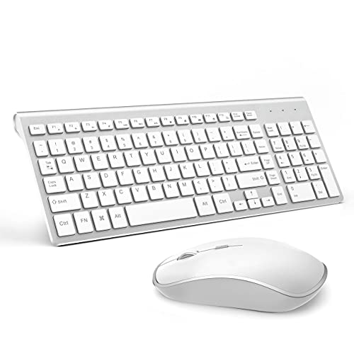 2d418d18f9b JOYACCESS Wireless Keyboard and Mouse Combo,Compact Wireless Keyboard with  Numeric Keypad,Ergonomic Full