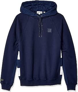 Men's Long Sleeve Mis French Terry Nylon Sweatshirt with Hoodie