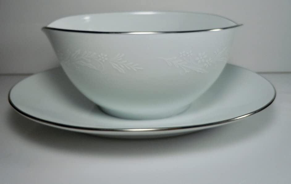 Noritake Georgian Gravy Boat and Attached Underplate